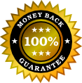 booking system money back guarantee badge
