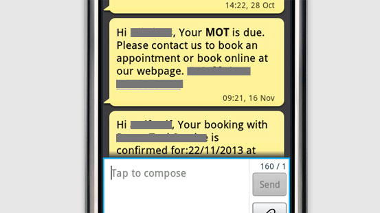 Image of a bespoke website design, in this case a minicab service, inside a mobile phone. Image created with placeit.breezi.com