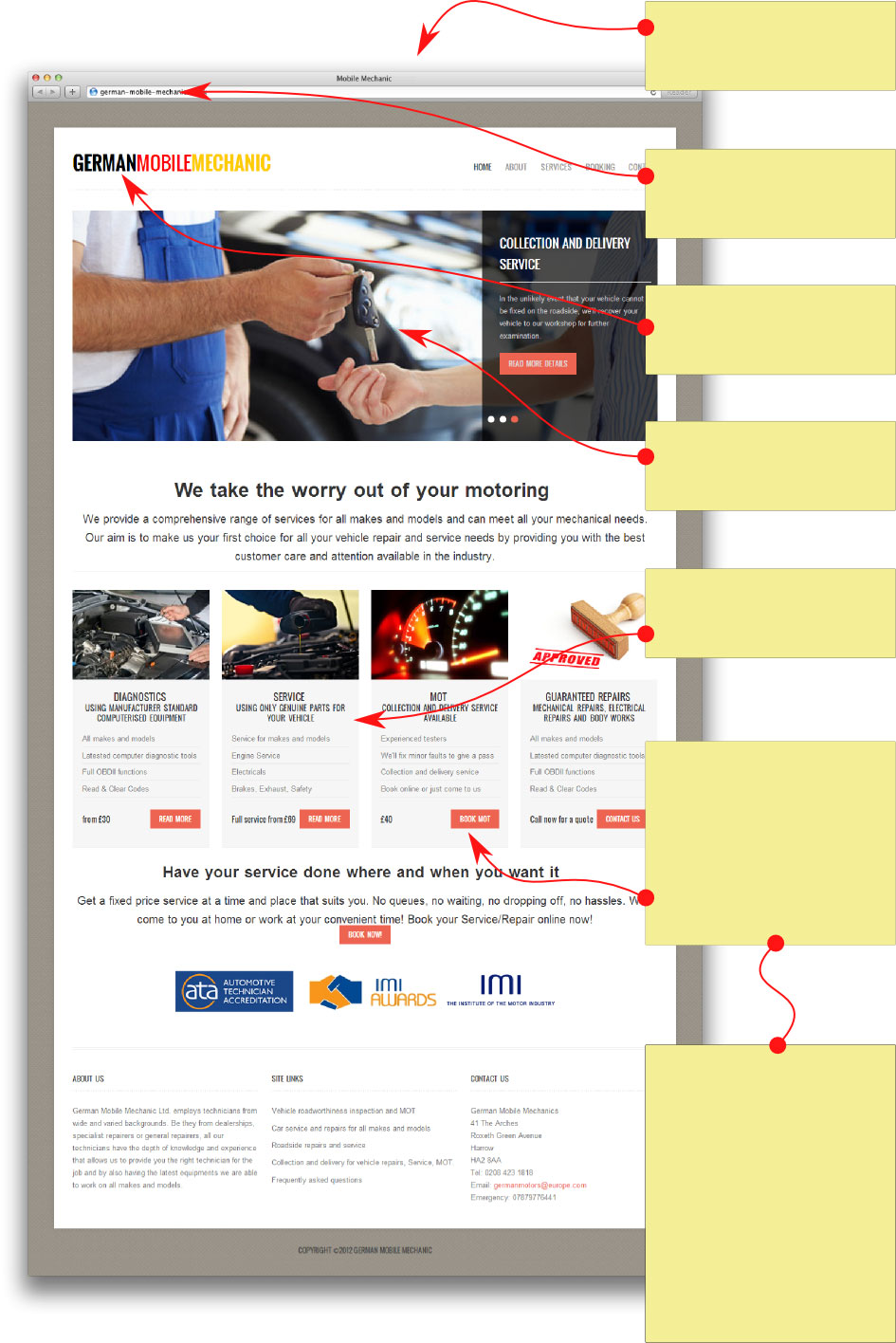 Mechanic Garage Website Design With Bookings Mot
